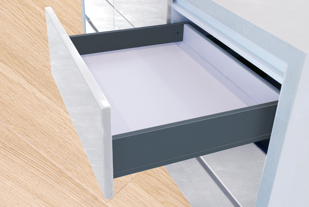 DZ101W Slim luxury double wall drawer-(Medium drawer)