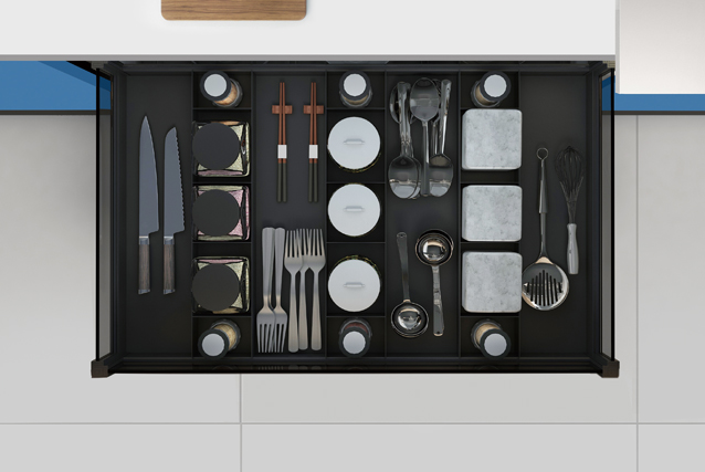 Four-side multifunction separation drawer