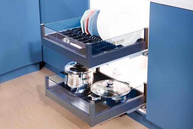 Aluminum four-side drawer  basket