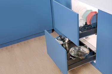 Aluminum three-side drawer  basket